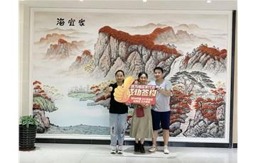 海宜家排列三字谜泥艺术壁材捷报频传,重庆南川加盟商成功签约!